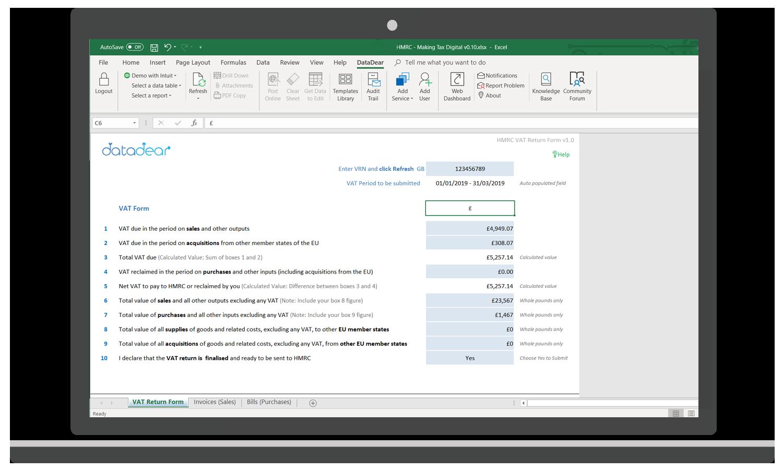 DataDear's solution for Making Tax Digital's UK VAT Return