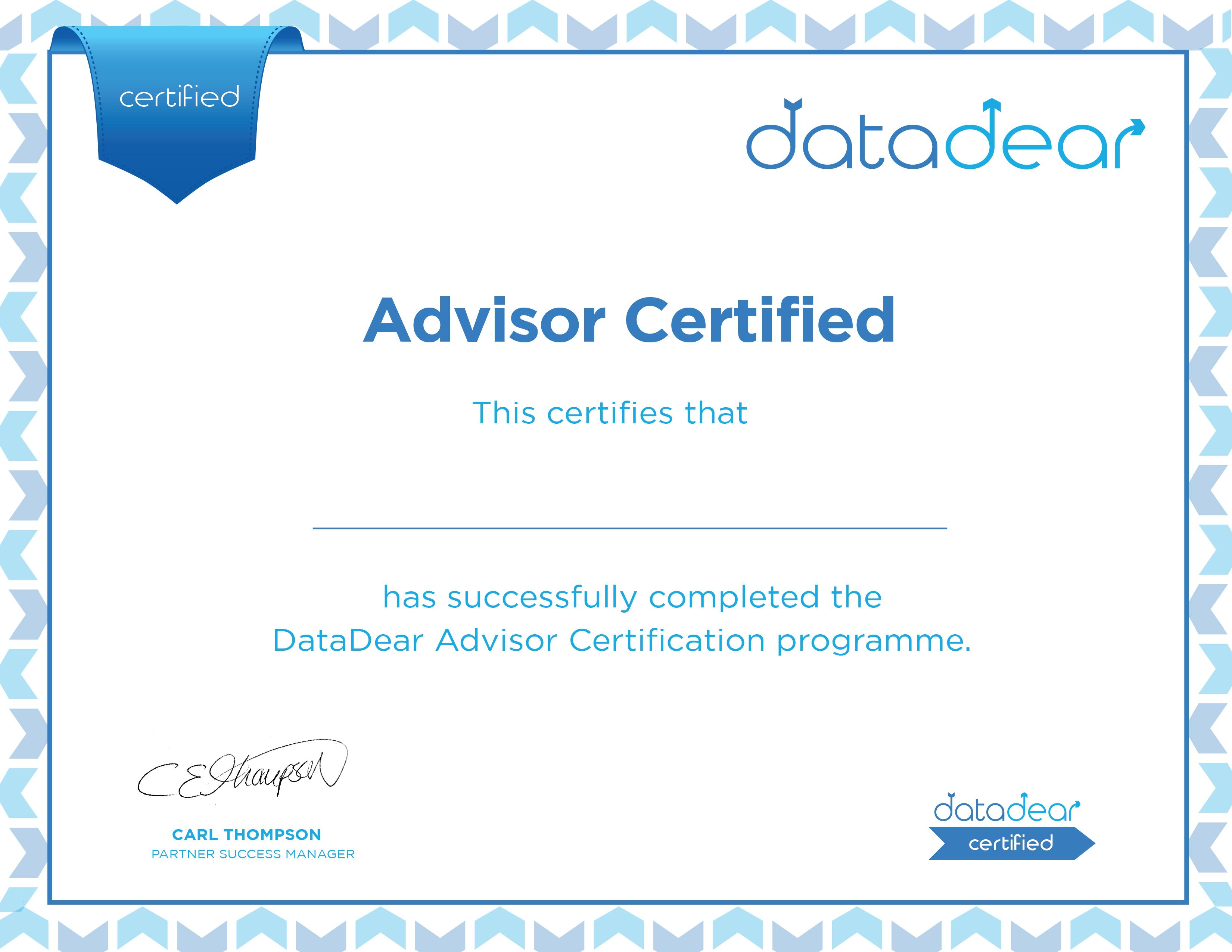 Advisor Certified